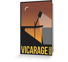 Stadium Art - Vicarage Road Silhouette Greeting Card