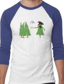 Mighty Pinerate Men's Baseball ¾ T-Shirt