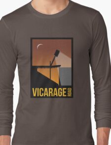 Stadium Art - Vicarage Road Silhouette Long Sleeve T-Shirt