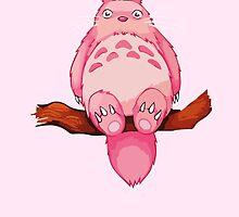 Pink my neighboor Totoro from Studio Ghibli by Roes Pha