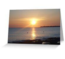 Cayman Sunset Greeting Card