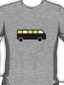 BUS AT NIGHT ROAD SIGN T-Shirt