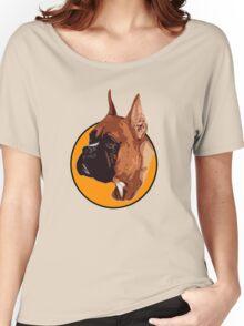 BOXER DOG PORTRAIT  Women's Relaxed Fit T-Shirt
