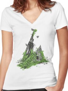 Silent Decay Women's Fitted V-Neck T-Shirt