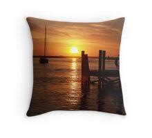 SUNSET AT BEAUFORT Throw Pillow
