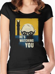 Watching You, Precious Women's Fitted Scoop T-Shirt