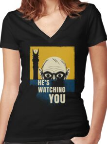 Watching You, Precious Women's Fitted V-Neck T-Shirt