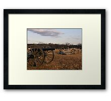 Cannon at Sunset Framed Print