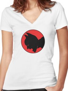 ThunderBat Women's Fitted V-Neck T-Shirt