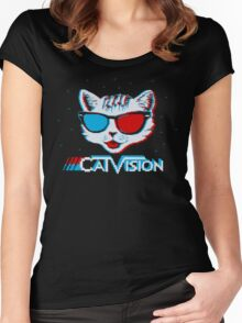 CatVision Women's Fitted Scoop T-Shirt