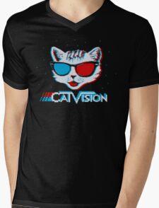 CatVision Mens V-Neck T-Shirt