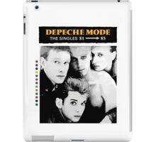 Depeche Mode : Single 81-85 - Paint B&W - With name iPad Case/Skin