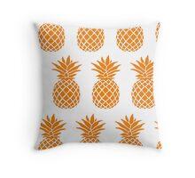 Orange Pineapple 2 Throw Pillow