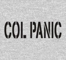 COL PANIC - Punny White T-Shirt for Unix/Linux Geeks Kids Clothes