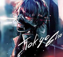 kaneki from tokyo ghoul by Spikeynator