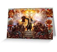 Bioshock infinite: For God and Country Greeting Card