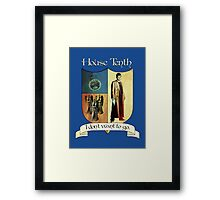 House Tenth Doctor Framed Print