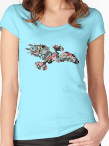 Flowerfly Women's Fitted Scoop T-Shirt
