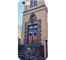 Wreaths on the church door iPhone Case/Skin