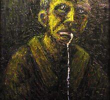 Portrait Study of Drooling Man minus border 050 by mrddixon