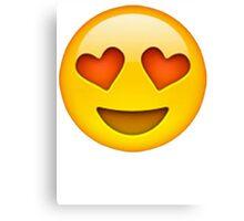 Heart Eye Emoji Canvas Print