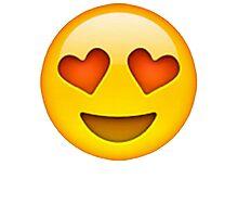 Heart Eye Emoji Photographic Print