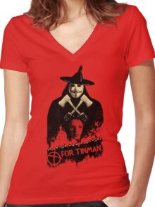 T For Tinman Women's Fitted V-Neck T-Shirt