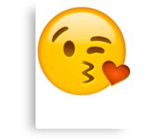 Kiss heart emoji Canvas Print