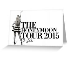 The Honeymoon Tour w/ Ariana (Shade White Only) Greeting Card