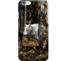 Arctic Wolf in Forest iPhone Case/Skin