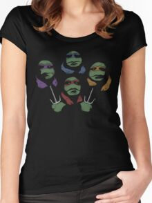 Ninja Rhapsody (multi colors) Women's Fitted Scoop T-Shirt