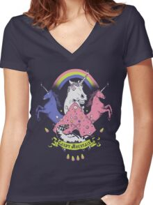 Candy Mountain Women's Fitted V-Neck T-Shirt