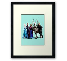 Frozen Characters Framed Print