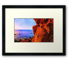 It's all about the rock... Framed Print