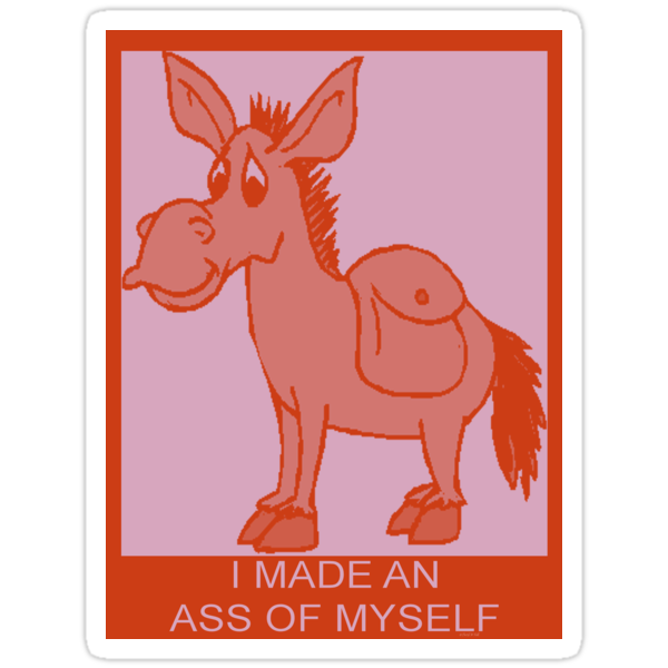 I MADE AN ASS OF MYSELF by Cheryl Hall