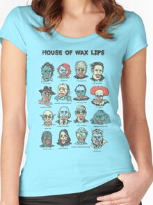House Of Wax Lips Women's Fitted Scoop T-Shirt