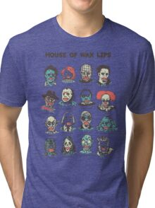 House Of Wax Lips Tri-blend T-Shirt