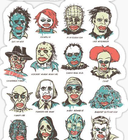 House Of Wax Lips Sticker