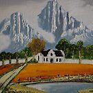 Cape Dutch Homestead Stellenbosch. by christiaan-art venter