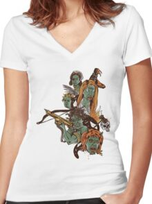 Demon Spawn Women's Fitted V-Neck T-Shirt