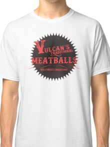 Vulcan's Traditional Meatballs - BLACK Classic T-Shirt