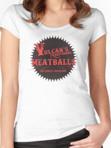 Vulcan's Traditional Meatballs - BLACK Women's Fitted Scoop T-Shirt