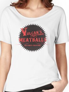 Vulcan's Traditional Meatballs - BLACK Women's Relaxed Fit T-Shirt