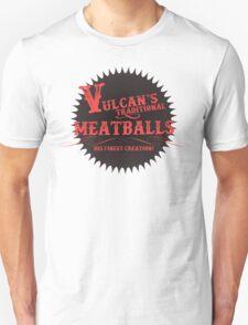 Vulcan's Traditional Meatballs - BLACK T-Shirt