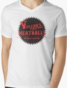 Vulcan's Traditional Meatballs - BLACK Mens V-Neck T-Shirt