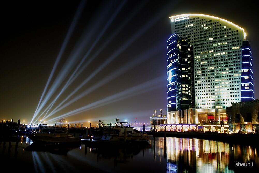 Dubai Intercontinental Hotel at night by shaunji