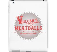 Vulcan's Traditional Meatballs - WHITE iPad Case/Skin