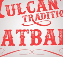 Vulcan's Traditional Meatballs - WHITE Sticker