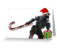 Master Chief Santa Claus Greeting Card