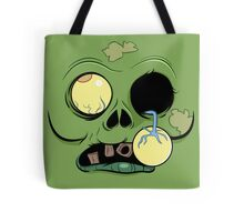 Zombie Face with eye popping out Tote Bag